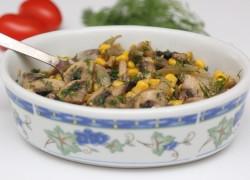 סלט תירס ופטריות