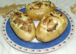 תפוחי אדמה ממולאים בפטריות וגבינות